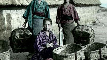 [彩照]1900年的日本街头小巷,跟你想象的一样吗?