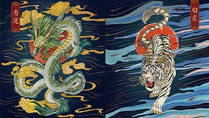 青龙白虎这一对神兽组合最初是怎么形成的?