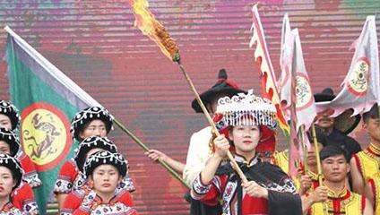 壮族的火棍舞,谷雨节的祖先传说